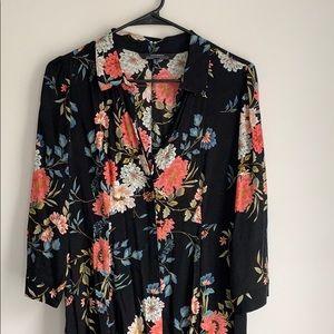 Zara premium denim collection midi dress